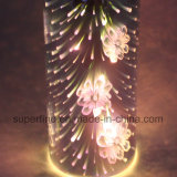 3D l'indicatore luminoso di vetro luminoso di illuminazione LED con placca per la decorazione domestica