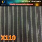 ポリエステルヤーンの衣服(X105-110)のための染められた縞ファブリックの敏速な商品
