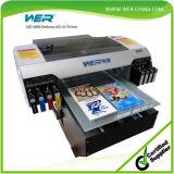 Anerkannter A2 Tischplatten-UVled Flachbettdrucker des Cer-für Drucken Belüftung-Identifikation-Karte, Feder, Telefon-Kasten, Glas, Metall, keramisch, T-Shirt