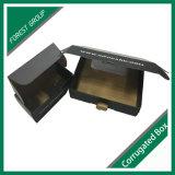 Штейновая чернота с коробкой гофрированной бумага печатание логоса