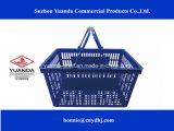 Cesta de compras de plástico para supermercado