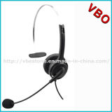 Call center più poco costosa Monaural Rj Headset con Noise Cancelling Mic Boom per Telemarketing