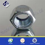 Noix en nylon Hex DIN985 avec le zinc