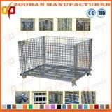 スタック可能鋼線の網パレットケージの倉庫の貯蔵容器(Zhra32)