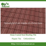 Azulejo de material para techos de acero revestido de la piedra colorida (azulejo de la ondulación)