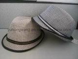 流行の紳士のソフト帽の帽子、スポーツの野球帽