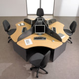 partition de bureau de mélamine de groupe de travail du personnel 4-Person (SZ-WST641)