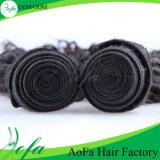 低価格の熱い販売のバージンの毛は波状の人間の毛髪かさ張る