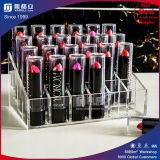 Support acrylique de crémaillère d'organisateur de rouge à lievres de fentes de l'usine 24