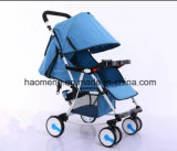 Basket를 가진 Flax Folding Baby Stroller