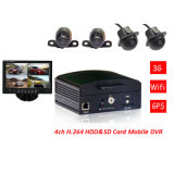 移動式DVR Car Camera 4CH D1 Car Vehicle Cam Video Camera、Recorder Car DVR