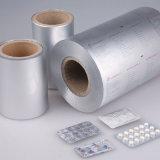 ヒートシールのための薬剤のラッカーを塗られたアルミホイル