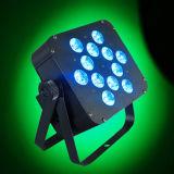 최신 5in1 Rgbaw 12X15W 장난 좋아하는 요정 편평한 LED 동위 빛