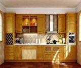 Gabinete de cozinha pequeno personalizado da madeira contínua