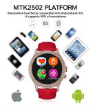 Synchronisierung zum Mobiltelefon Smart Watch mit Multifunction Waterproof, Heart Rate, Pedometer, usw.