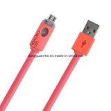 Плоский толковейший кабель USB СИД для микро- USB