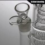 Feito da tubulação de água de vidro para a tubulação de água de fumo de fumo do Borosilicate da câmara de ar de Perc do favo de mel do cachimbo de água em linha reta