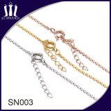 간단한 금은 소녀 사슬 은 목걸이를 디자인한다