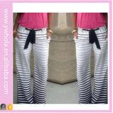 Weibliche Dame-Großhandelsform-gestreifte Hose