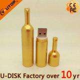 Memória Flash do USB do metal do frasco de vinho vermelho do ouro (YT-1216-02)