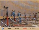 Sistema do levantamento hidráulico que levanta o sistema do elevador do sistema para a construção do tanque