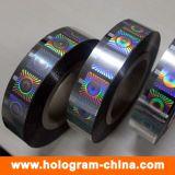 Seguridad de oro del rollo del holograma estampado en caliente