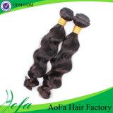 Волнистые волосы сотка выдвижение волос Remy/человеческие волосы бразильянина девственницы
