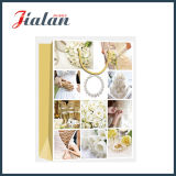 Glossy Laminated Ivory Paper Wedding Jewelry Shopping Gift Paper Bag
