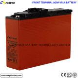 batterie d'acide de plomb du cycle 12V100ah profond terminal avant pour l'usage de télécommunications
