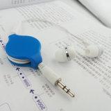 Earbuds retractable portable modificado para requisitos particulares venta caliente