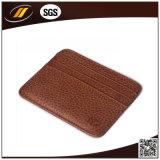 Détenteur de carte en cuir de nom d'entreprise d'unité centrale en métal fin en gros de qualité (HJ8102)