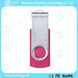 Logotipo rosado de encargo del eslabón giratorio 2GB USB Drive (ZYF1811)