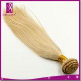 Aucune couleur de tissage de rejet d'or de cheveux purs de la Vierge 100