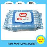단단한 덮개 (BW136)를 가진 80PCS 연약하고 더 두꺼운 아기 닦음