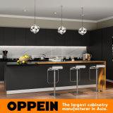 Armadio da cucina di legno della lacca opaca nera alla moda moderna all'ingrosso (OP16-L14)