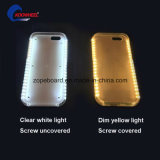 Caixa clara iluminada diodo emissor de luz do telefone de pilha para o estoque do iPhone 5/5se/6/6s EUA