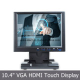 Monitor del LCD de 10.4 pulgadas con la pantalla resistente del panel de tacto 4-Wire
