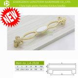 Chromed покрынные /Gold ручки двери шкафа причудливый сплава цинка керамические