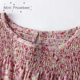 Платье 100% девушки цветка одеяния детей хлопка на лето