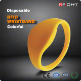 Wristband de silicone de génie des Wristbands rempli par couleur bon marché Ntag213 pour des arènes