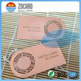 Impressão feita sob encomenda do cartão nenhum cartão mínimo do metal