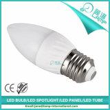 220V luz de la vela de la raya E27 5W LED
