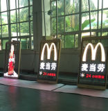P10 Transparent LED Screen per The Window Advertisement
