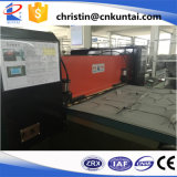 Cortadora automática hidráulica de la alfombra con la banda transportadora