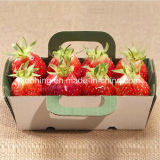 귀여운 Corrugated Packing 또는 Strawberry를 위한 Handle를 가진 Display Box Basket