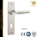 Стальная ручка замка двери с большой плитой (7026-Z6073)