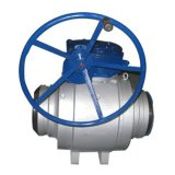 Válvula de bola de tres piezas flotante muñón de eje hueco operado, Soldadura