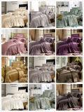 Conjunto de seda inconsútil del lecho de la hoja de ropa de cama de la calidad de Oeko-Tex de la materia textil del hogar de la nieve de Taihu