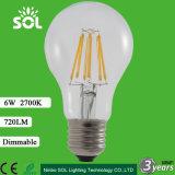 テールLEDフィラメントの球根ランプとのセリウムによって提供される120lm/W C35 C35ta