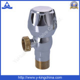 Válvula de ángulo de bola de latón de alta calidad con mango de zinc (YD-5003)